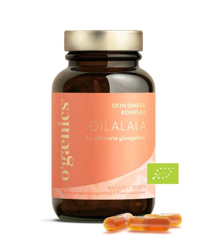 Skin-Omega-Komplex_Oilalala_gegen trockene Haut Ogaenics_Nahrungsergaenzungsmittel