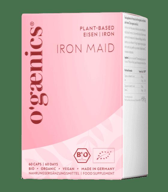ogaenics-iron-maid-bio-eisen-nahrungsergaenzung-packung